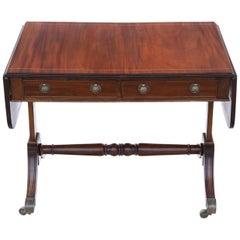 Antique Late 19th Century Inlaid Mahogany Folding Sofa Table