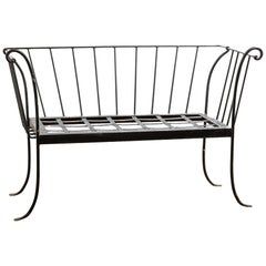 "Antique Late 19th-Early 20th Century Wrought Iron ""Deconstructed"" Sofa Settee"