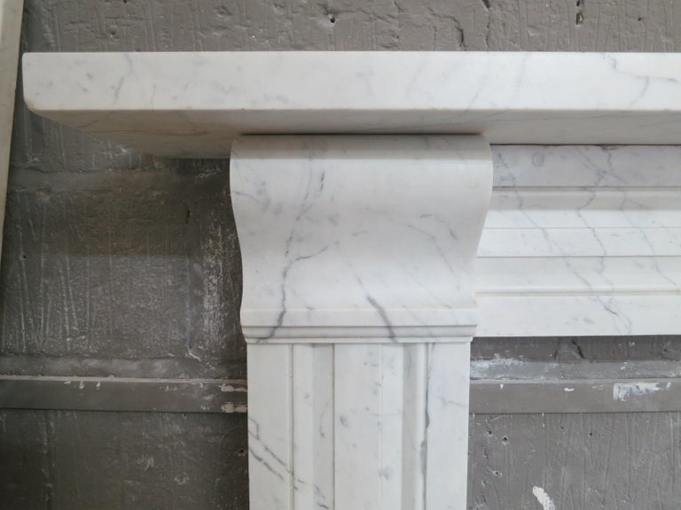 English Antique Late Regency Marble Fireplace Mantel For Sale