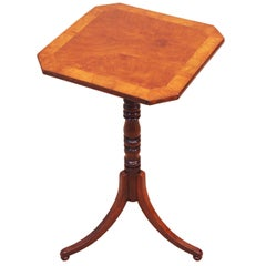 Regency Walnut And Elm Occasional Lamp Table