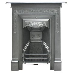 Antique Late Victorian Art Nouveau Bedroom Fireplace