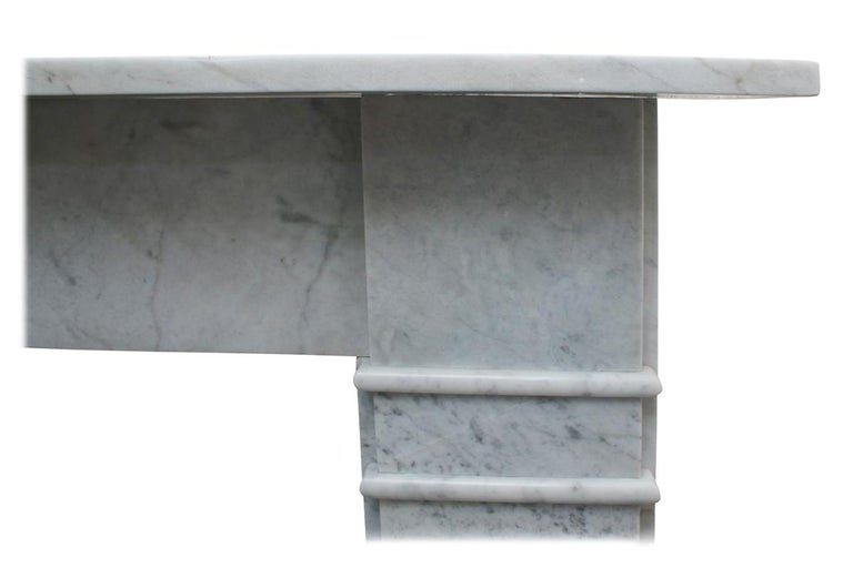 Antique Late Victorian Carrara Marble Fire Surround For Sale 2