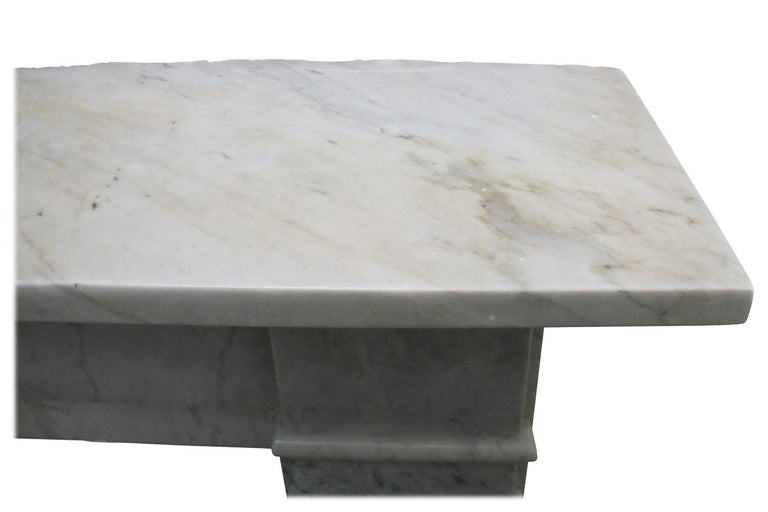 Antique Late Victorian Carrara Marble Fire Surround For Sale 4