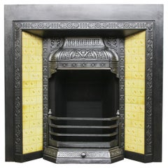 Antique Late Victorian Cast Iron Fireplace Insert