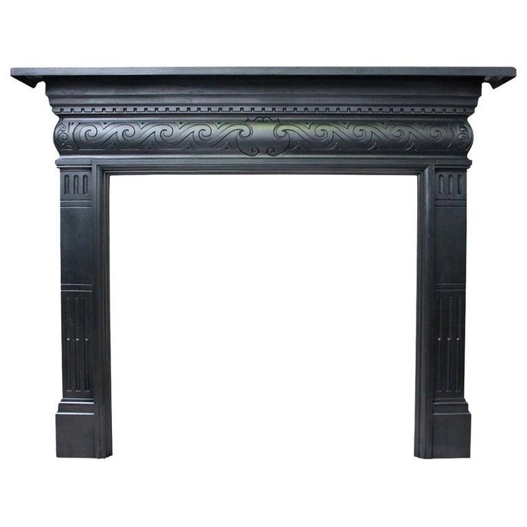 Antique Late Victorian Cast Iron, Antique Victorian Fireplace Surround