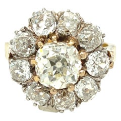 Antique Late Victorian Old Mine Diamond Cluster Ring