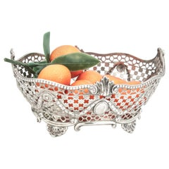 Antique Late Victorian Sterling Silver Small Basket/Dish