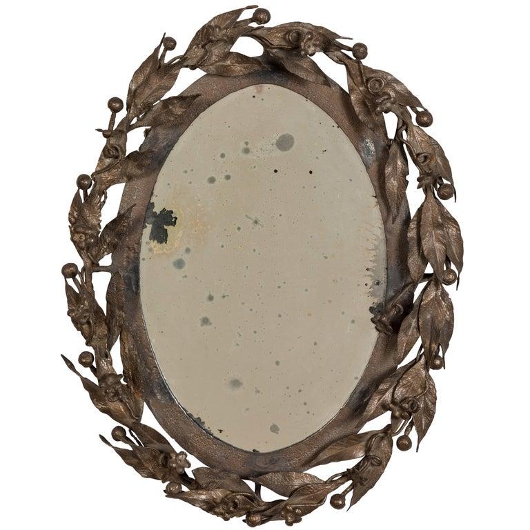 Antique Laurel Leaf Mirror For Sale