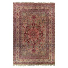 Antique Lavar Kerman Persian Rug