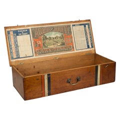 Antique Lawn Tennis Box with Poster, Army and Navy, 1880s