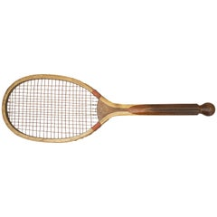 Antique Lawn Tennis Racket, Ball Tail by Bussey