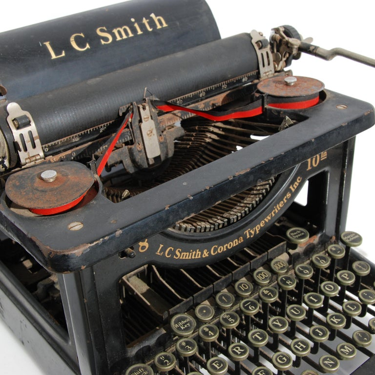 Industrial Antique LC Smith & Corona Typewriter, circa 1920s For Sale
