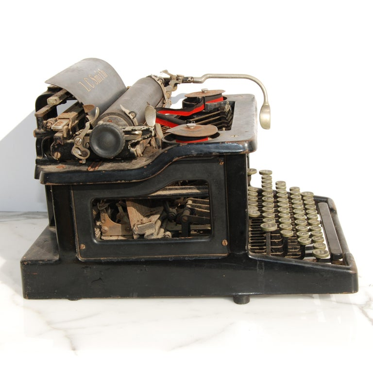 American Antique LC Smith & Corona Typewriter, circa 1920s For Sale