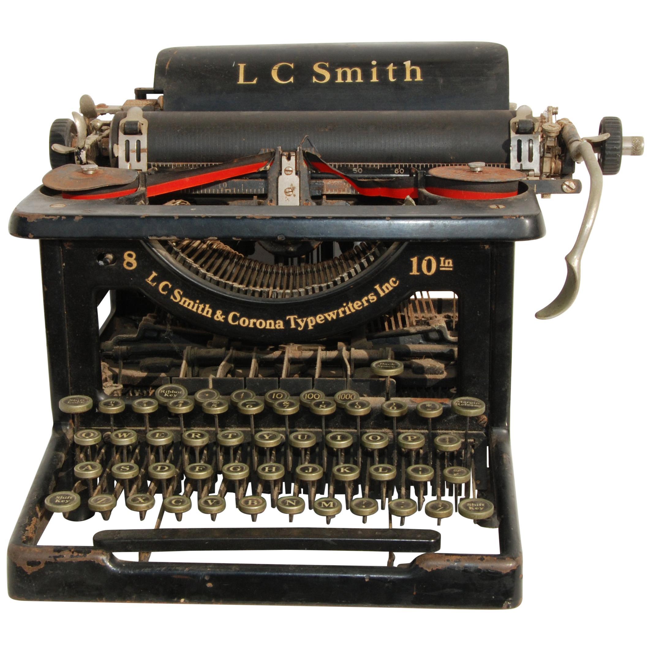 Antique LC Smith & Corona Typewriter, circa 1920s