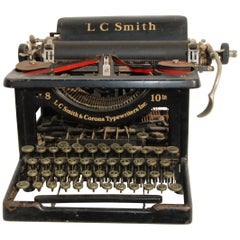 Antique LC Smith & Corona Typewriter, circa 1920s