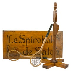 Antique Le Spiroble De Salon, A French Tennis Game with Two Rackets