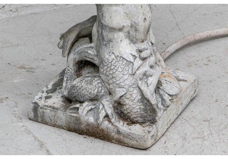 Antique Lead Garden Fountain Figure of Triton For Sale 8