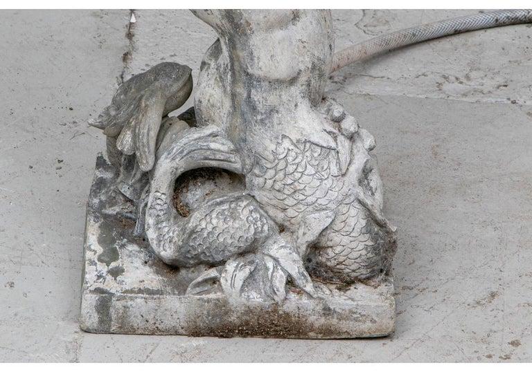 Antique Lead Garden Fountain Figure of Triton For Sale 9