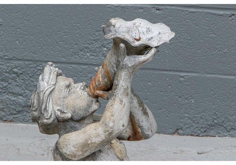 Antique Lead Garden Fountain Figure of Triton For Sale 6
