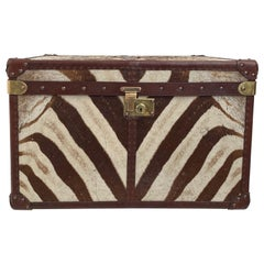 Antique Leather and Zebra Skin Trunk