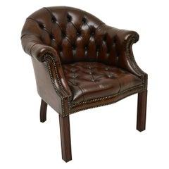 Antique Leather Armchair / Desk Chair