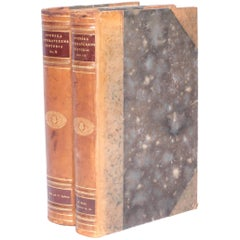 Antique Leather-Bound Books from Sweden