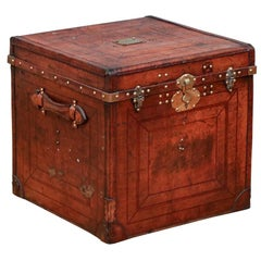Antique Leather Covered Chest
