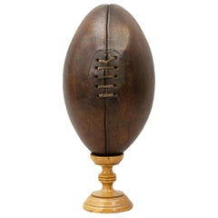 Antique Leather Rugby Ball, Childs Rugby Ball