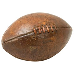 Antique Leather Rugby Ball with 4 Panels, Football