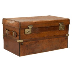 Antique Leather Travelling Trunk