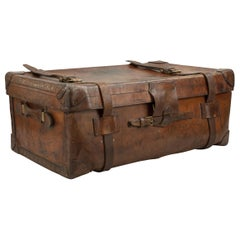 Antique Leather Trunk by Finnigans, Bond Street, London Luggage