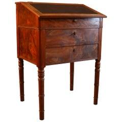 Antique Lectern / High Desk, Walnut and Burl Veneer, circa 1840
