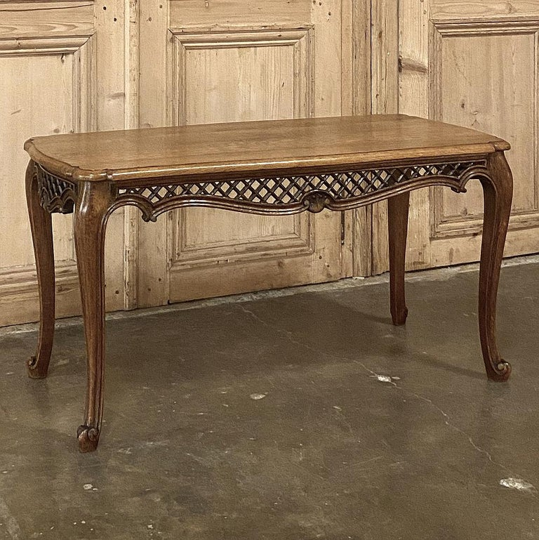 Belgian Antique Liegoise Carved Oak Coffee Table For Sale