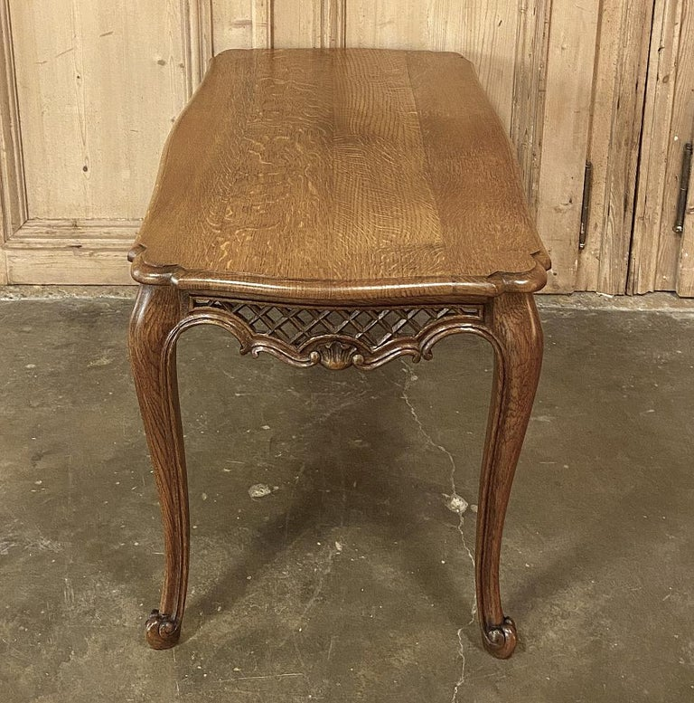 20th Century Antique Liegoise Carved Oak Coffee Table For Sale