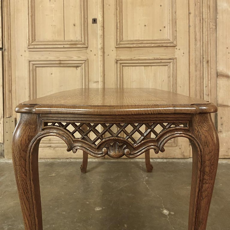 Antique Liegoise Carved Oak Coffee Table For Sale 1