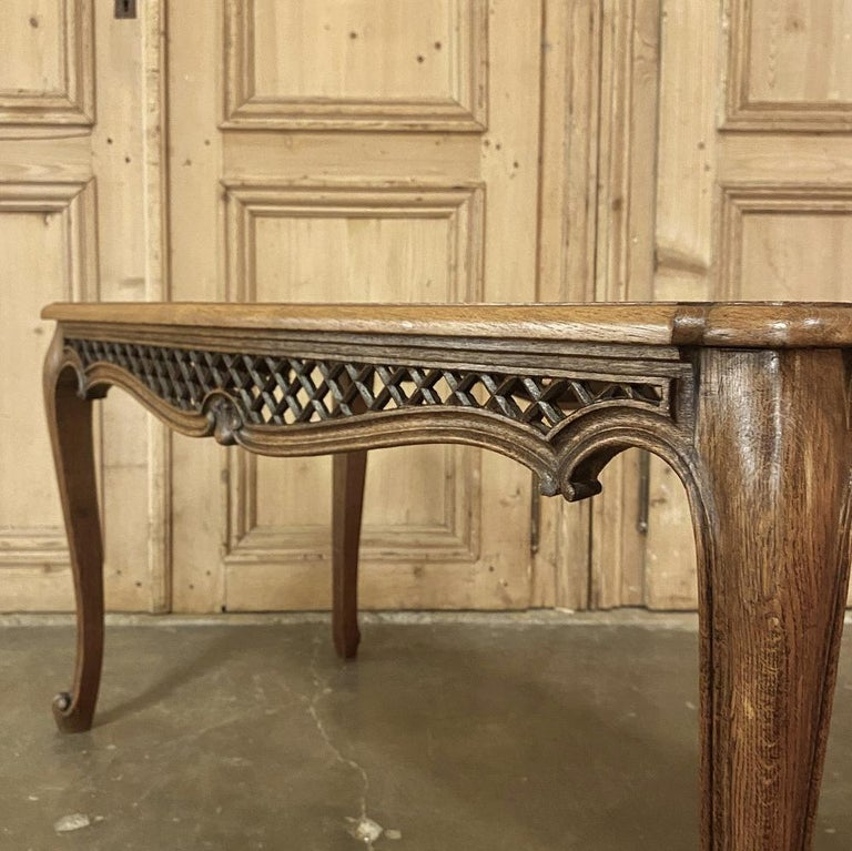 Antique Liegoise Carved Oak Coffee Table For Sale 2