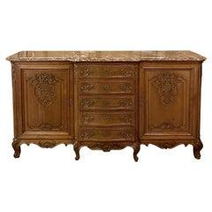 Antique Liegoise Louis XIV Marble-Top Buffet