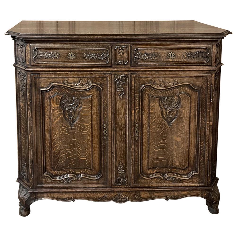 Antique Liegoise Louis XIV Oak Buffet