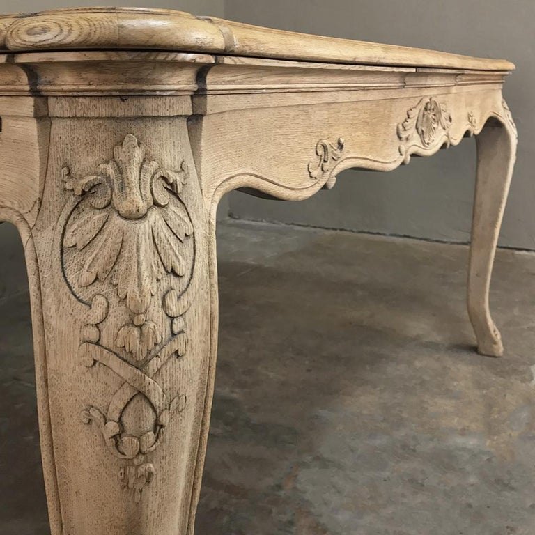 Antique Liegoise Stripped Draw Leaf Dining Table For Sale 2