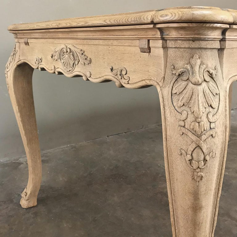 Antique Liegoise Stripped Draw Leaf Dining Table For Sale 3