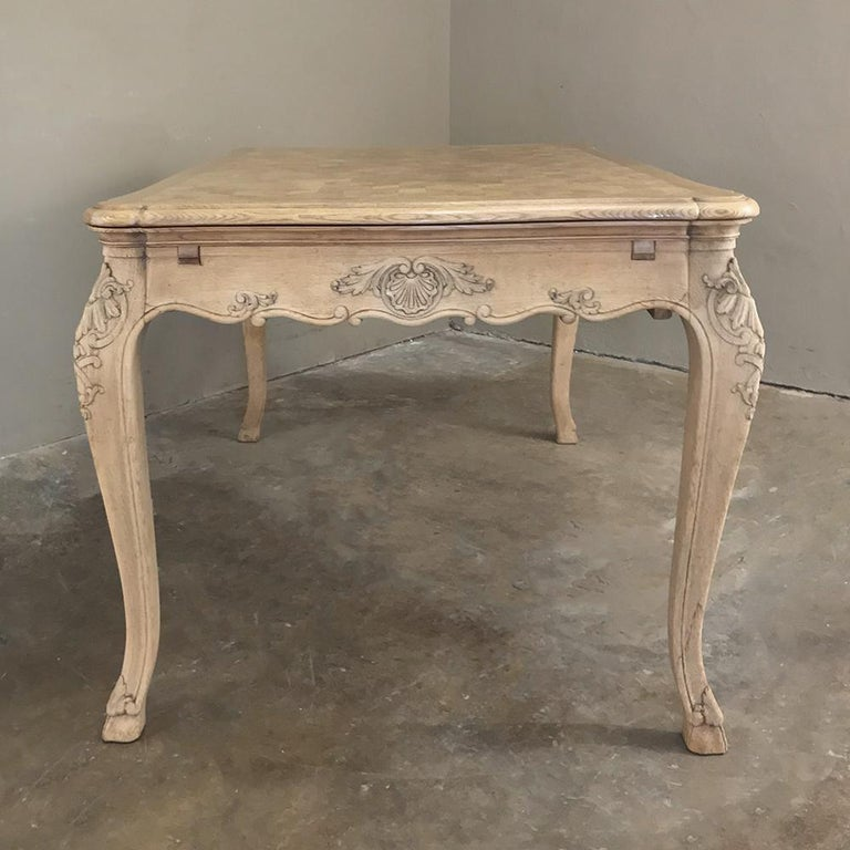 Antique Liegoise Stripped Draw Leaf Dining Table For Sale 5