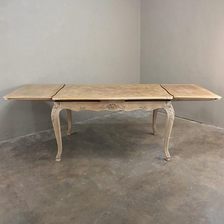 Antique Liegoise Stripped Draw Leaf Dining Table For Sale 6