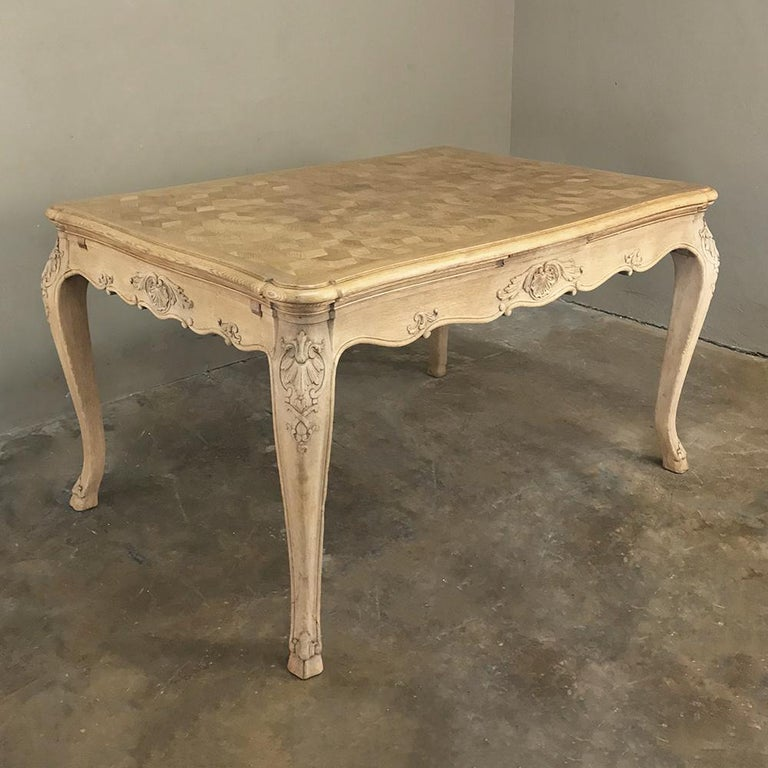Régence Antique Liegoise Stripped Draw Leaf Dining Table For Sale