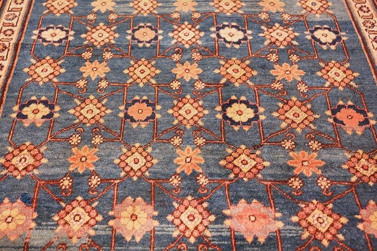 Antique Light Blue East Turkestan Khotan Rug For Sale 3