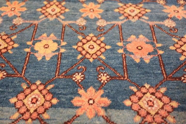 Antique Light Blue East Turkestan Khotan Rug For Sale 4