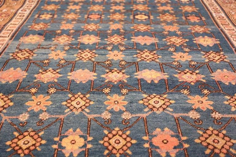 Antique Light Blue East Turkestan Khotan Rug For Sale 5