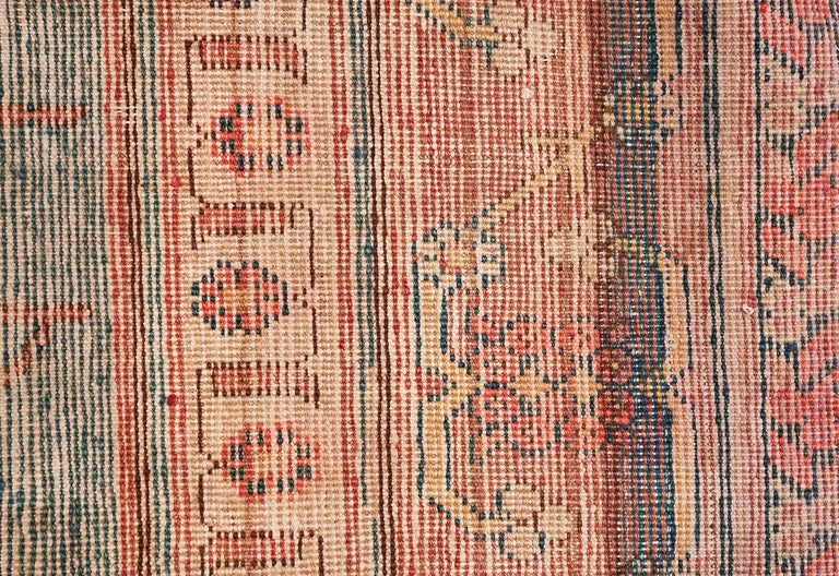 East Turkestani Antique Light Blue East Turkestan Khotan Rug For Sale