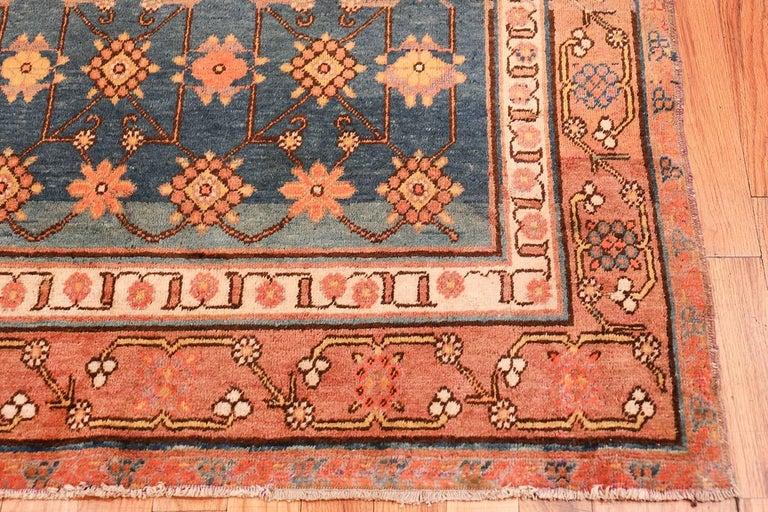 Wool Antique Light Blue East Turkestan Khotan Rug For Sale