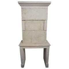 Antique Limestone Fireplace, circa 1790