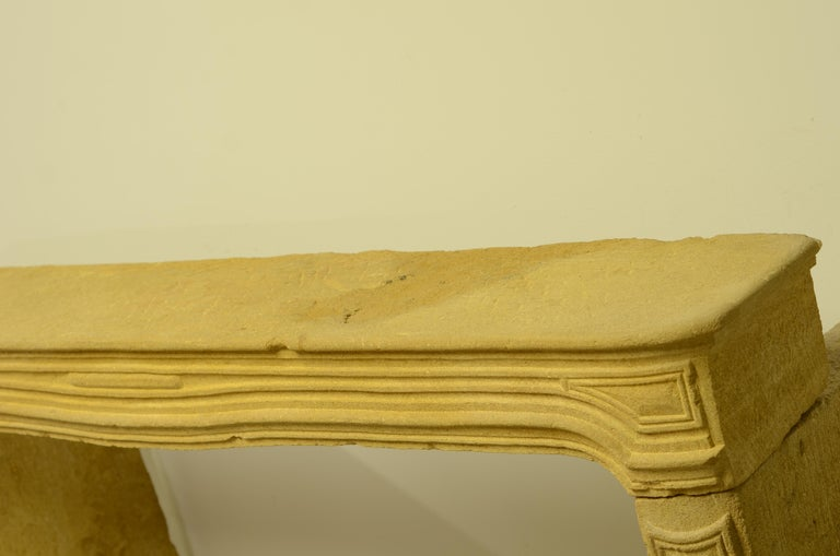 Antique Limestone Fireplace from France, 19th Century For Sale 7